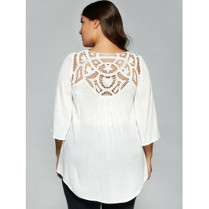Openwork Plus Size T-Shirt -