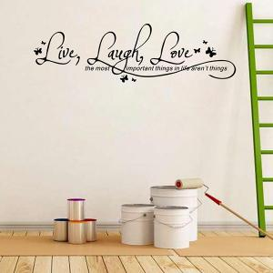Proverbs Waterproof Removable Art Wall Stickers - BLACK