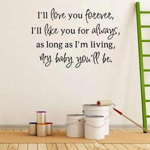 Love Proverbs Removable Art Vinyl Wall Stickers Custom -