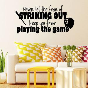 Waterproof Children Room Game Letters Vinyl Wall Stickers Custom - BLACK