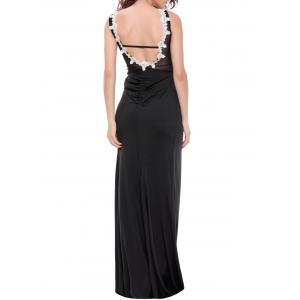 Sequined See-Through Backless Stunning Maxi Dress - WHITE 2XL