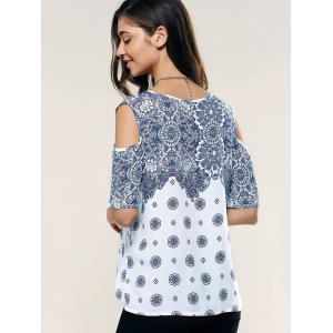 Hollow Out Ethnic Printed Tee -