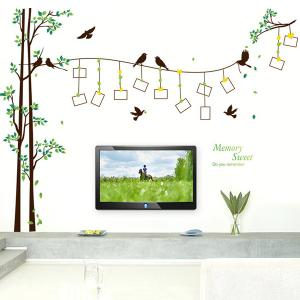 Photo Frame Tree Waterproof Removable Wall Stickers - COLORMIX