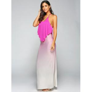 Halterneck Gradient Color Maxi Dress -