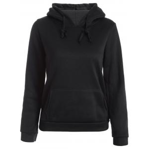 Flocking Letter Print Hoodie - BLACK XL