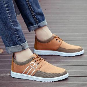 Splicing Stitching Lace-Up Souliers - Brun 43