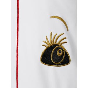 Retro Funny Face Embroidered Dress -