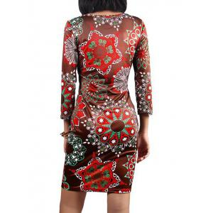 Printed Party Pencil Dress -