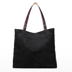 Sketch Print Canvas Bag -