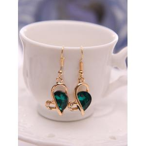 Faux Crystal Hollow Out Jewelry Set -