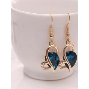 Hollow Out Faux Crystal Jewelry Set - BLUE