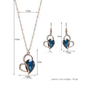 Hollow Out Faux Crystal Jewelry Set -