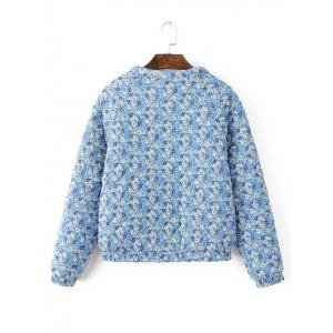Quilted Floral Print Jacket -