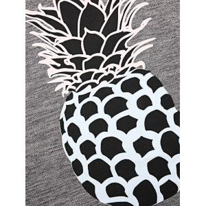 Pineapple Pattern Bodycon Mini Dress -