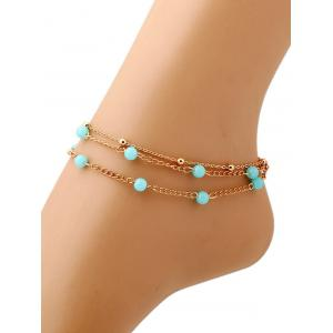 Bohemian Layered Beaded Anklet -