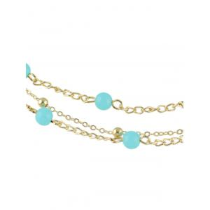 Bohemian Layered Beaded Anklet - GOLDEN