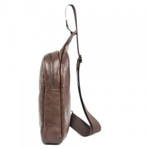 Faux Leather Chest Bag -