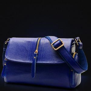 Magnetic Closure Zippers Stitching Crossbody Bag -