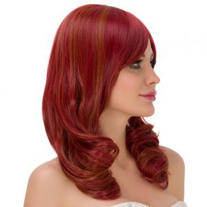 Medium Side Bang Curly Heat Resistant Fiber Wig -
