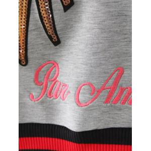 Crew Neck Embroidered Sequins Sweatshirt -