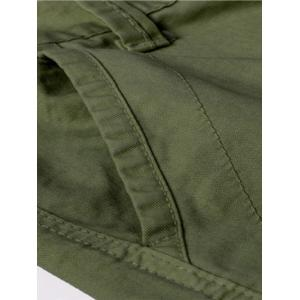 Straight Leg Multi-Pocket Zipper Fly Cargo Pants - ARMY GREEN 40