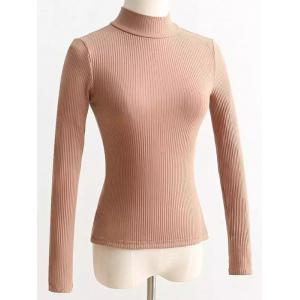 High Neck Reversible Lace Up Knitwear -