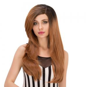 Long Layered Side Bang Tail Adduction Heat Resistant Fiber Wig -