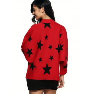 Star Pattern Knitted Cardigan -