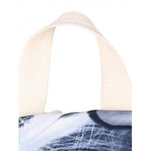 Zippers Feather Print Color Block Backpack -