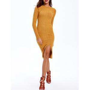 Cable-Knit Furcal Double-Wear Dress -