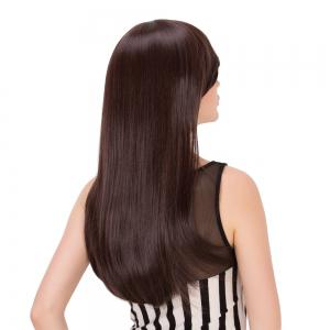 Long Side Bang Tail Adduction Heat Resistant Fiber Wig -
