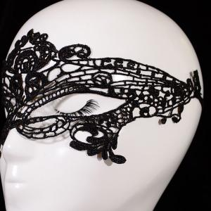 Gothic Style Hollowed Lace Party Mask - BLACK
