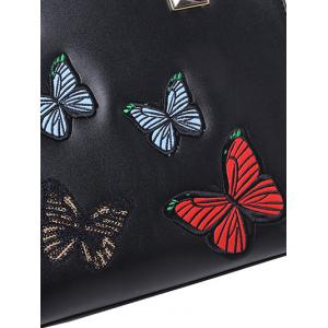 Metal Butterfly Pattern Embroidery Tote Bag -