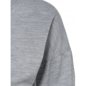 Skew Neck Pumpkin Sweatshirt - GRAY 3XL