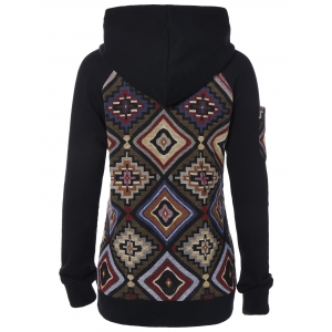 Geometric Pattern Hoodie - COLORMIX XL
