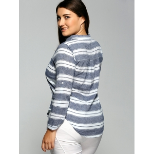 Striped Pocket Casual Shirt -