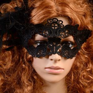 Masque Gothic Party Lace Flower style - Noir