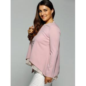 High-Low Layered Blouse - PINK 3XL