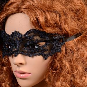 Masque Style gothique Party Floral Lace - Noir