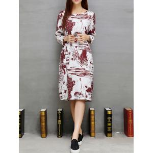 Loose Ink-Painting Shift Dress -
