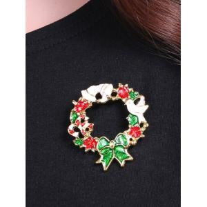 Pigeon Flower Leaf Christmas Bows Brooch - GOLDEN