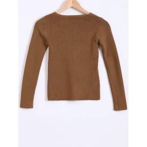 Ribbed Textured Slimming Knitwear -