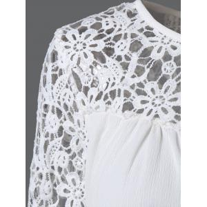 Laciness Cutwork Crossover Top -