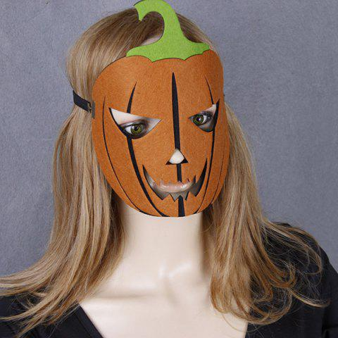 New Halloween Pumpkin Elastic Hair Band Mask YELLOW