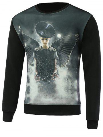 Outfits 3D Model Print Round Neck Long Sleeve Sweatshirt