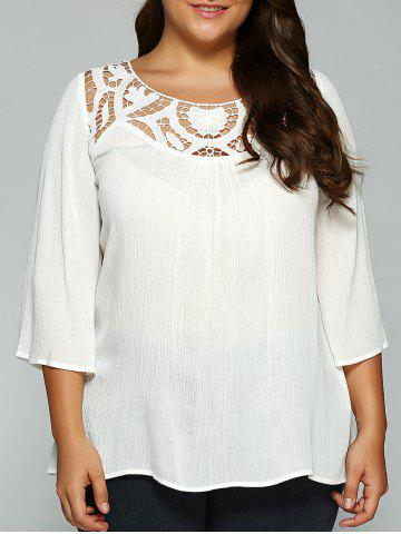 Cheap Openwork Plus Size T-Shirt