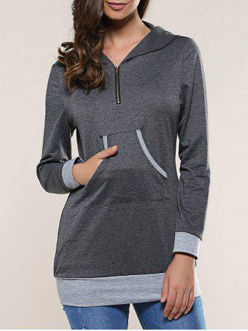 Outfits One Pocket Contrast Trim Hoodie