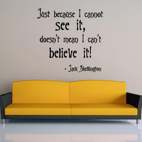Unique Removable Famous Quotes Wall Stickers
