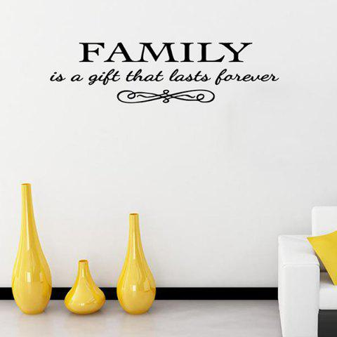 Shop Vinyl Family Proverbs Waterproof Removable Wall Stickers - BLACK  Mobile