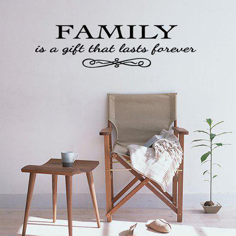 Store Vinyl Family Proverbs Waterproof Removable Wall Stickers - BLACK  Mobile